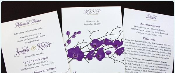 Best Purple Lavender Wedding Invitations 2014