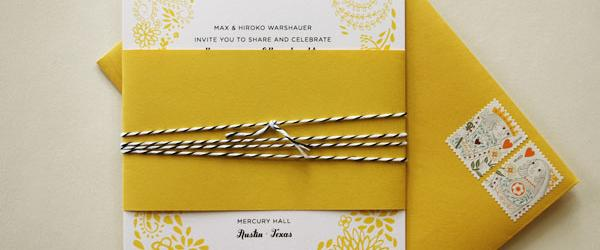 Best Yellow Wedding Invitations and Invites 2014