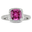 Buy Affordable Pink Sapphire Engagement Rings with Diamonds on Amazon