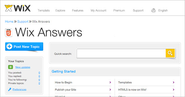 Wix Answers for HTML5 | Wix.com