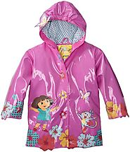 Best Children's Raincoats With Matching Boots And Umbrellas | Nickelodeon Little Girls' Dora Raincoat