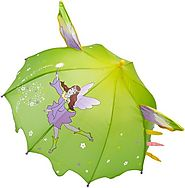 Best Children's Raincoats With Matching Boots And Umbrellas | Kidorable Fairy Umbrella, Green, One Size