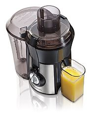 Hamilton Beach Juice Extractor, Big Mouth, Metallic (67608A)