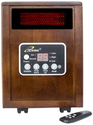 Top 10 Best Rated Space Heaters | iLIVING Infrared Portable Space Heater with Dual Heating System, 1500W, Remote Control, Dark Walnut Wooden Cabinet