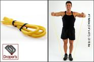 "Best Home Exercise Band Set - Fitness Tube Set‎ - 2014 Reviews | #1 Yellow (1/4"" x 41"") - 2-15 lbs - Pull up Band,Exercise, Strength and Resistance Bands. Powerlifting Equipment for ..."