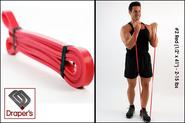 "Best Home Exercise Band Set - Fitness Tube Set‎ - 2014 Reviews | #2 Red (1/2"" x 41"") - 5-35 lbs - Pull up Band,Exercise, Strength and Resistance Bands. Powerlifting Equipment for Cro..."