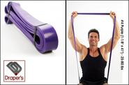 "Best Home Exercise Band Set - Fitness Tube Set‎ - 2014 Reviews | #4 Purple (1-1/8"" x 41"") - 25-80 lbs - Pull up Band,Exercise, Strength and Resistance Bands. Powerlifting Equipment f..."