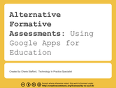 EdTechTeam Arizona Summit Day 2 Links | Assessment with Google