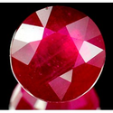 3.31 ct Natural red Ruby loose gemstone for sale round faceted cut