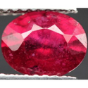 1.64 ct Natural red Ruby loose gemstone for sale oval faceted cut