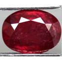 1.84 ct Natural red Ruby loose gemstone for sale oval faceted cut