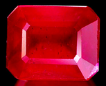 2.42 ct Natural red ruby loose gemstone emerald cut
