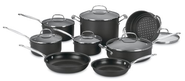 Best Budget Cookware Sets Reviews and Ratings 2014 | Cuisinart 66-14 Chef's Classic Nonstick Hard-Anodized 14-Piece Cookware Set