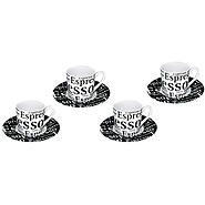 Konitz 8-pc. Espresso Cup & Saucer Set - Kitchen Things