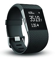 Best GPS Watch for Running and Cycling | Fitbit Surge Fitness Superwatch, Black, Large