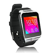 Best GPS Watch for Running and Cycling | Palm Stream® S29 smart watch phone Bluetooth Android FM Radio GSM GPS New Wrist Blac Hot Sale Silver