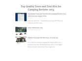 Quality Tents and Tent Kits 2014 | Top Quality Tents and Tent Kits for Camping Reviews 2014