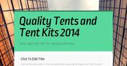Quality Tents and Tent Kits 2014 | Quality Tents and Tent Kits 2014