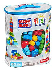 Best Educational/Learning Toys for Toddlers - Girls And Boys | Mega Bloks First Builders Big Building Bag, 80-Piece (Classic)