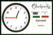 Elementary Math Websites To Practice Telling Time | Clockworks | MrNussbaum.com