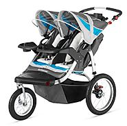 Best Double Jogging Stroller Reviews and Ratings | Schwinn Turismo Double Swivel Stroller, Grey/Blue