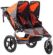 Best Double Jogging Stroller Reviews and Ratings | BOB Revolution SE Duallie Stroller, Orange