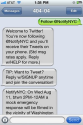 Twitter Blog: Introducing Fast Follow, and other SMS tips