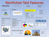 Nonfiction text features graphic
