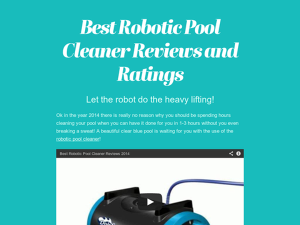 Best robotic pool cleaner reviews and ratings 2014 a for Pool cleaner reviews 2013