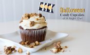 Halloween Candy Cupcakes