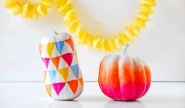 Halloween & Fall Diy | Funky Ombre Pumpkins