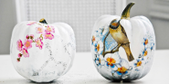 Halloween & Fall Diy | Funky Decoupaged Pumpkins