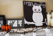 DIY Happy Haunting Owl Plaque