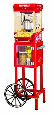 Best Top Rated Home Popcorn Machines 2014 - 2015 | Nostalgia Electrics KPM200CART 48-Inch Vintage Collection Popcorn Cart