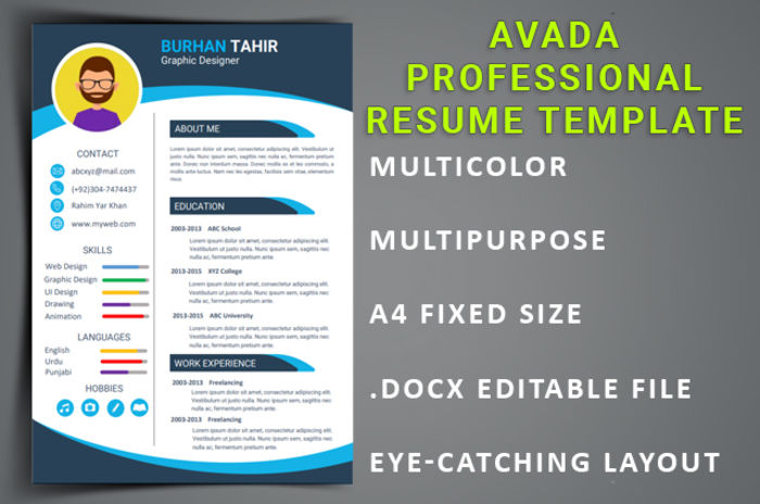 standout with these modern design resume templates a