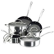 Best Nonstick Induction Cookware Sets 2014 | Farberware Millennium Stainless Steel Nonstick 10-Piece Cookware Set