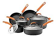 Best Nonstick Induction Cookware Sets 2014 | Rachael Ray Hard Anodized II Nonstick Dishwasher Safe 10-Piece Cookware Set, Orange
