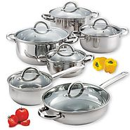 Best Nonstick Induction Cookware Sets 2014 | Cook N Home 12-Piece Stainless Steel Set