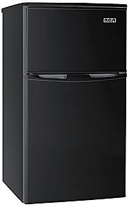 Best Compact Personal Mini Fridge Refrigerators 2014 | RCA RFR835-Black 3.2 Cubc Foot 2 Door Fridge and Freezer, Black