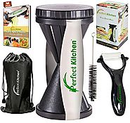 Spiral Vegetable Slicer Reviews | iPerfect Kitchen Envy Spiral Slicer Bundle - Vegetable Spiralizer - Zucchini Spaghetti Pasta Maker