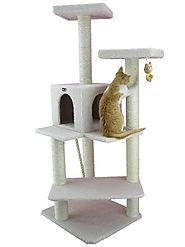 Best Cat Trees for Large Cats | Armarkat B5701 57-Inch Cat Tree, Ivory