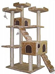 Best Cat Trees for Large Cats | Go Pet Club Cat Tree, 50W x 26L x 72H, Beige