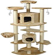 Best Cat Trees for Large Cats | Go Pet Club Cat Tree, 80-Inch, Beige