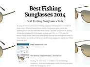 Best Rated Fishing Sunglasses | Best Fishing Sunglasses 2014