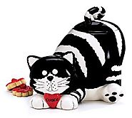 Cat Cookie Jars for Sale | Chester The Cat/Kitty Cookie Jar Food Container