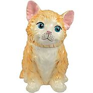 Cat Cookie Jars for Sale | Westland Giftware Kookie Jars Orange Kitten Cookie Jar, 11-Inch