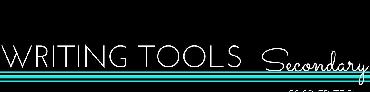 Headline for Writing Tools- Secondary