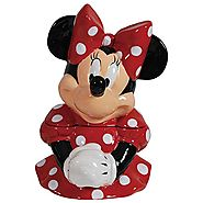 Disney Cookie Jars for Sale | Westland Giftware Ceramic Cookie Jar, Minnie Mouse, Multicolor