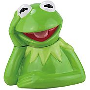 Disney Cookie Jars for Sale | Westland Giftware Ceramic Cookie Jar, 10.25-Inch, Disney Muppet Kermit the Frog
