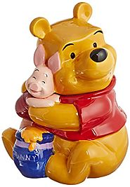 Disney Cookie Jars for Sale | Westland Giftware Ceramic Cookie Jar, Winnie The Pooh Hugs Piglet, Multicolor